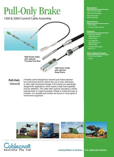 Pull-Only Brake - Cablecraft Australia - Mechanical Cables