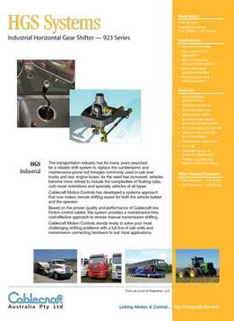 HGS Systems Industrial Horizontal Gear Shifter - Cablecraft Australia