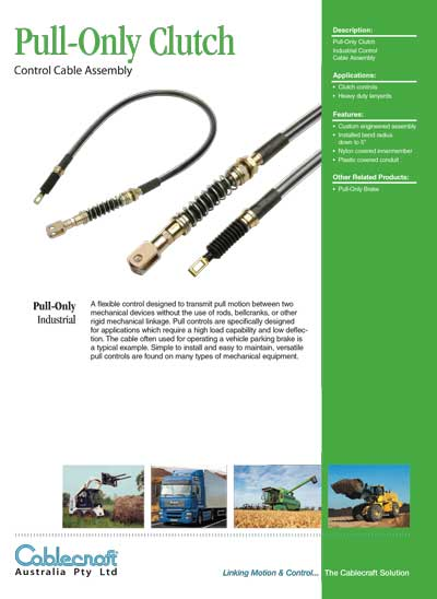 Pull-Only Clutch - Cablecraft Australia - Mechanical Cables