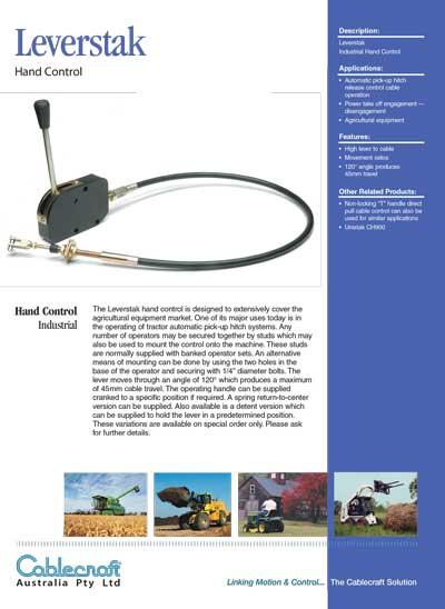 Leverstak Hand Control Levers - Cablecraft Ausltralia