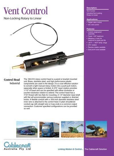 Vent Control - CableCraft Australia